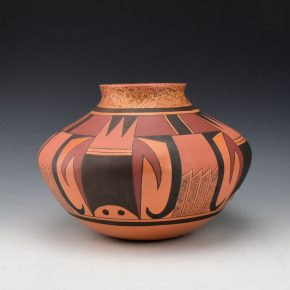 Clashin, Debbie – Polychrome Water Jar with Eagle Tail Design