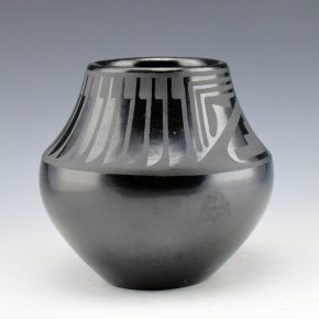 Sanchez, Desideria – Jar with Feather and Rain Motifs (1960's)