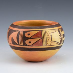 Nampeyo, Fannie – Bowl with Rain Designs (1960's)