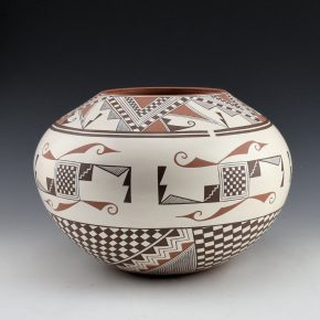 "Namingha, Les – ""Hopi Star, Zuni Birds"" Jar"