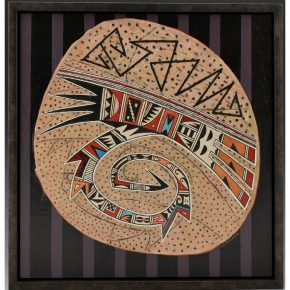 "Namingha, Les – ""Hopi Bowl Design"" Acrylic Painting"