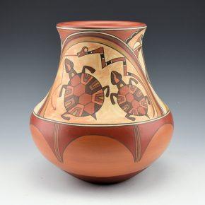 Gutierrez, Lois  – Turtles & Avanyu Polychrome Water Jar