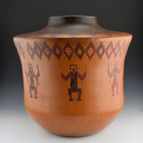 Williams, Lorraine – Storage Jar with Eight Yei Figures