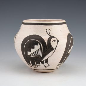 Chino, Rose – Jar with Birds (1980's)