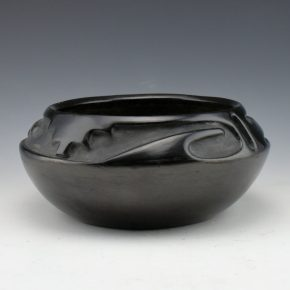 Gonzales, Rose – Wide Bowl with Rain and Cloud Designs