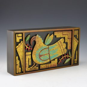"Garcia, Tammy – ""Parrot Box"" Bronze, Artist Copy"
