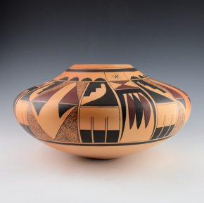Howato, Ted Tahbo – Large Jar with Eagle Tail Designs