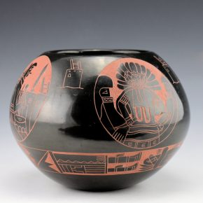 Tapia, Tom – Bowl with Katsina and Sun Medallions