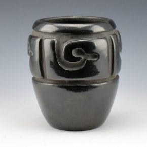 Tafoya, Margaret – Jar with Reverse Carved Avanyu (1960's)