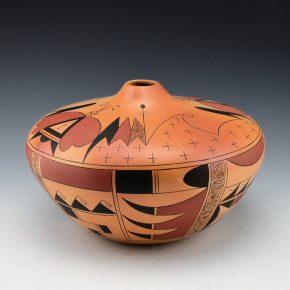 Clashin, Debbie – Jar with Hopi Moth Design