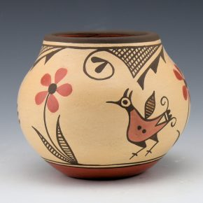 Medina, Elizabeth – Jar with Three Birds & Flowers