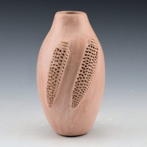White, Elizabeth – Mauve Clay Jar with Double Corn (1974)