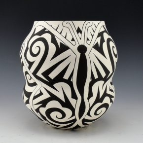 Lewis, Eric – Double Lobe Jar with Butterfly