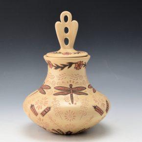 Fragua, Glendora – Jar with Dragonflies & Lid