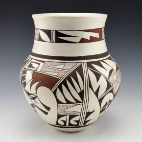 "Navasie, Joy ""Frogwoman"" – Water Jar with Hopi Birds (1980's)"