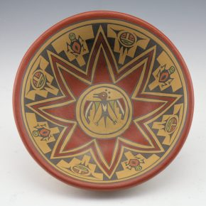 Gutierrez, Lela & Luther – Polychrome Thunderbird Open Bowl (1956-66)
