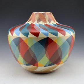 "Namingha, Les – ""Cochiti Motifs"" Painted Jar"