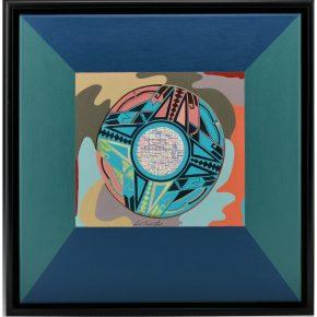 "Namingha, Les – ""Polychrome II (Dextra Series)"" Acrylic on Canvas"