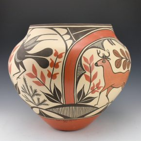 Medina, Sofia & Lois Medina – Four Color Jar with Deer & Birds