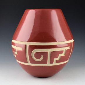 Tafoya, LuAnn – Red Jar with Bird Design