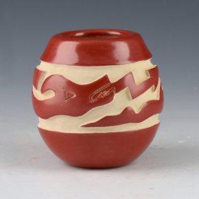 Tafoya, LuAnn – Mini Red Jar with Avanyu
