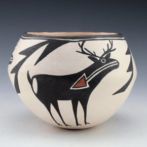Lewis, Lucy – Bowl with Heartline Deer (1980's)