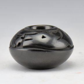 Tafoya, Myra Little Snow – Mini Carved Avanyu Bowl