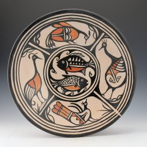 Tenorio, Robert  – Plate with Birds & Fish