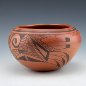 Huma, Rondina – Bowl with Hopi Bird Designs