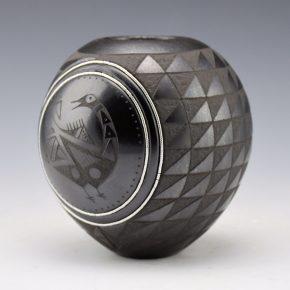 Sanchez, Russell  – Bowl with Birds & Cloud Geometrics