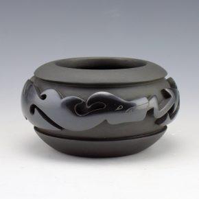 Tafoya, Shirley – Wide Bowl with Carved Avanyu