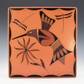 Setalla, Stetson – Large Tile with Hummingbird & Dragonflies