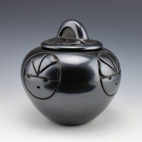 Roller, Toni -Lidded Bowl with Tewa Sun Design (1981)