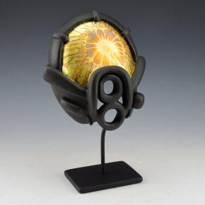 """Moquino, Ty – """"Sunrise"""" Mask With Gold Leaf Visor (Age 15)"""