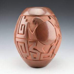 Begay, Daniel – Tall Brown Jar with Turtles