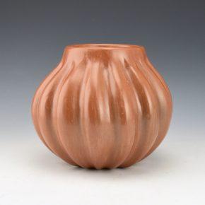 Shupla, Helen – Sienna Melon Jar with 15 Ribs (1980's)