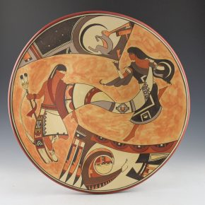 "de la Cruz, Juan and Lois Gutierrez  – ""Eagle Sun and Rabbit Moon"" Plate"