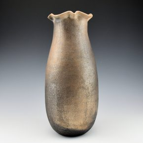 Honyumptewa, Kimberly Riley – Tall Picuris Micaceous Jar with Fluted Rim