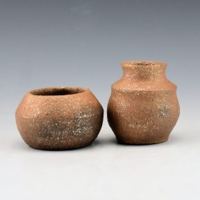 Honyumptewa, Kimberly Riley – Picuris Micaceous Pair Miniature Bowl and Jar