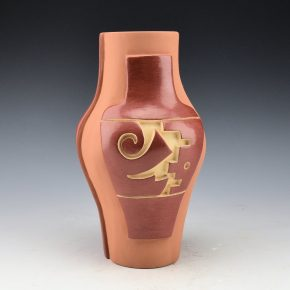 Cain, Linda – Tall Jar with Carved Jar