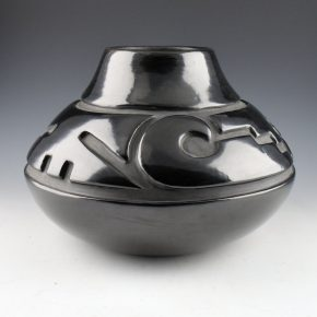 Tafoya, Margaret – Wide Jar with Cloud and Step Designs (1970's) (BOF p. 107)