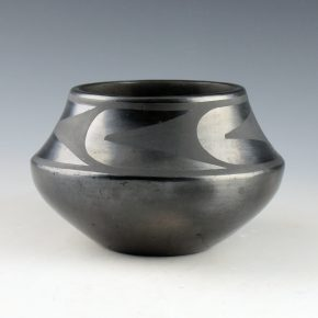 Roybal, Tonita – Gunmetal Jar with Plant Designs (1920's)