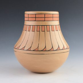 Blue Corn – Polychrome Jar with Feather Pattern (1976)