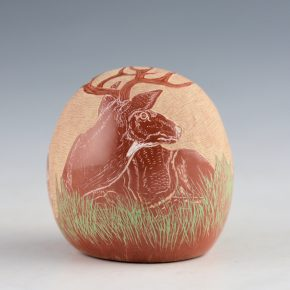 Tafoya, Camilio – Seedpot with Realistic Deer (1995)