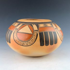 Quotskuyva, Dextra – Bowl with Red Tail Hawk Design (1980's)