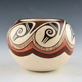 "Naha, Helen ""Feather Woman – Bowl with Cloud Designs (1978)"