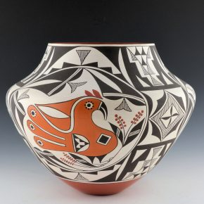 Cerno, Barbara & Joseph – Large Jar with Acoma Birds (1998)