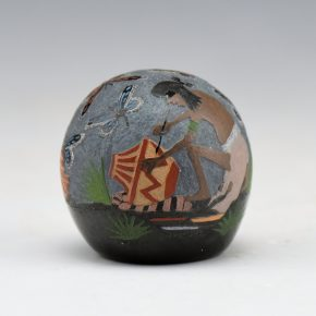 "Lonewolf, Joseph – ""Anasazi Potter & Butterflies"" Seedpot"
