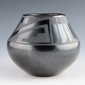 "Martinez, Maria – Jar with Feather and Lightning Design ""Marie + Julian"" (1930's)"