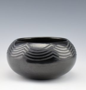 "Martinez, Maria – Bowl with Wave Designs, ""Marie + Julian"" (1920's)"